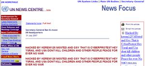 Defaced UN Web Site