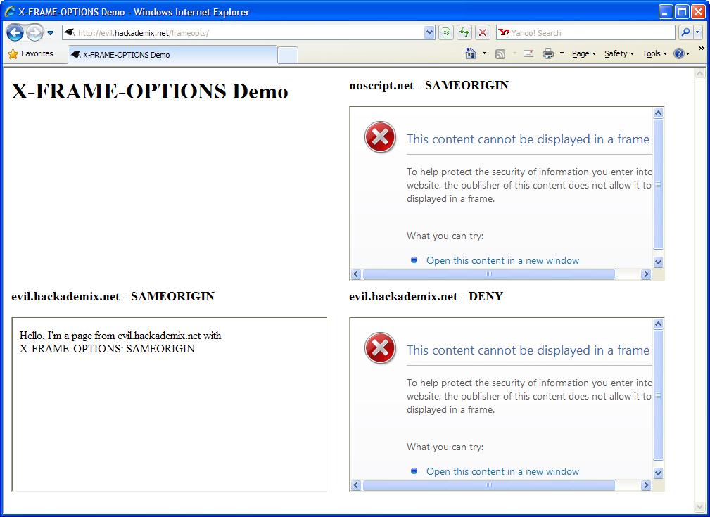 hackademix.net » X-FRAME-OPTIONS in Firefox