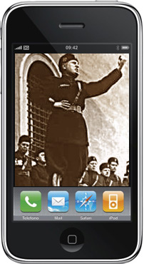 iMussolini, the popular (in Italy) Mussolini iPhone app