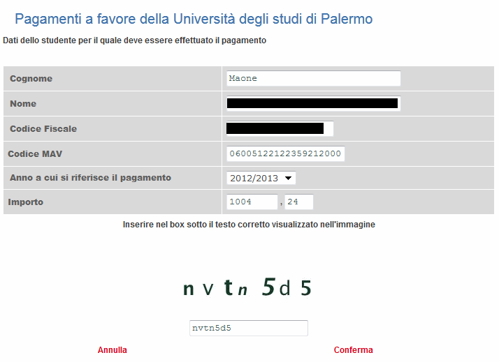 Unicredit's captcha to demonstrate you're human before paying with your credit card